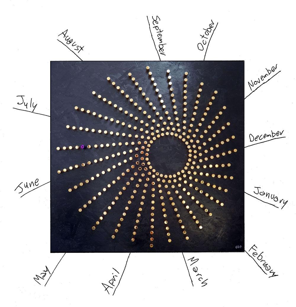 sun hour calendar art